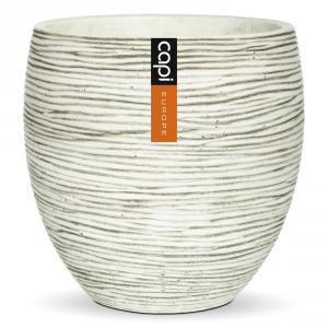 CAPI EUROPE Vaso cilindro capi indoor avorio - Vasi da interno ceramica