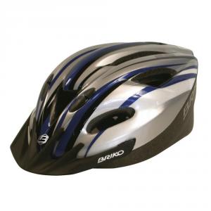 Briko Helmet Cycling Bike Unisex Meltemi Blue Silver Black 013566 ---- I1