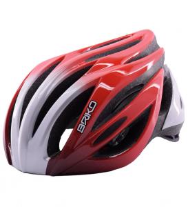 Briko Helmet Cycling Mountain Bike Unisex Wave Red Silver 013578-wa