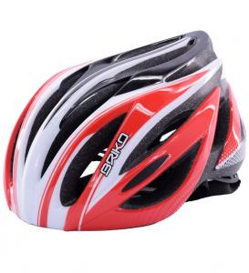 BRIKO Casque Cyclisme Vélo Unisexe WAVE Rouge Blanc 013578-V2