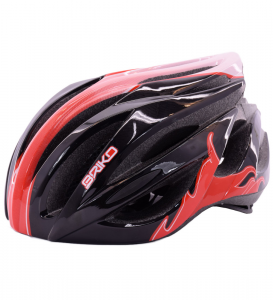 BRIKO Helmet Cycling Bike Unisex WAVE Black Red 013582 - V3 #