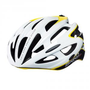BRIKO Casque Cyclisme Montagne Vélo Unisexe MUSTANG Blanc Jaune Noir 013591