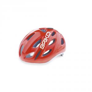 BRIKO Casco ciclismo bike junior roll fit racing PONY rosso lucido 013595