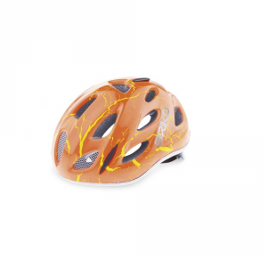BRIKO Casco ciclismo bike junior roll fit racing PONY MAGMA FLUO rosso 013595