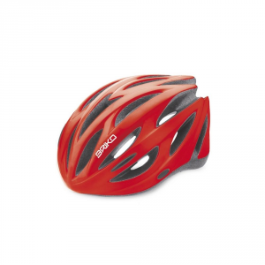 BRIKO Casco ciclismo unisex in-moulding technology SHIRE rosso lucido 013596
