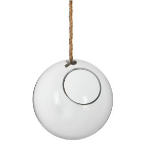 Agricola Deco Glass Ball Hanging Sil H2 Furniture