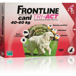 FRONTLINE Tri-act per cani 40-60kg - Antiparassitari cane