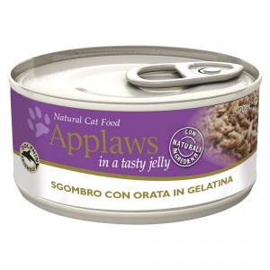 APPLAWS Cat Natural Food Lattina Con Sgombro E Orata Umido Gatto Grammi 70