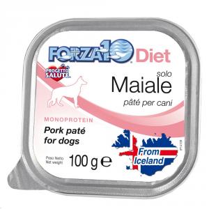 FORZA 10 Forza10 diet solo maiale 100gr - Alimenti umidi monoproteici per cani