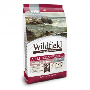EXCLUSION Wildfield Medium Large Aringa Salmone E Tonno 12Kg