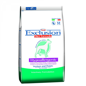 EXCLUSION Dog Hypoallergenic Cervo E Patate 12,5Kg