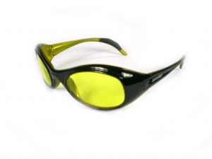 Briko Vintage Glasses Sports By Themselves Unisex Twin Shield Black Yellow 01401106s