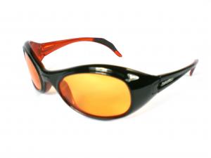 Briko Vintage Glasses Sports Unisex Twin Shield Black Orange 01401107s.c9