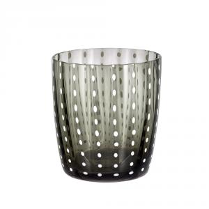 LIVELLARA MILANO Vidrio gris vaso de carnaval - Cocina mesa