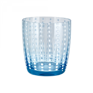 LIVELLARA MILANO vaso de cristal cielo azul carnaval - Cocina mesa