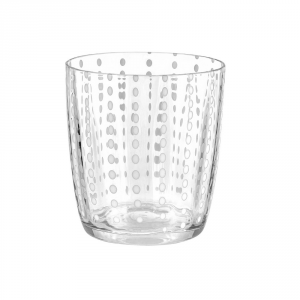 LIVELLARA MILANO Bicchiere tumbler carneval trasparente - Cucina tavola