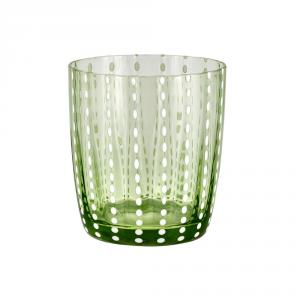 LIVELLARA MILANO Bicchiere tumbler carneval verde - Cucina tavola