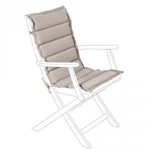Bizzotto Quilted Cushion For Medium Gray Back - Garden Furnishing Cushions