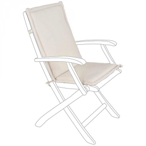 Bizzotto Natural Cushion For Medium-spun Back - Garden Furnishing Cushions