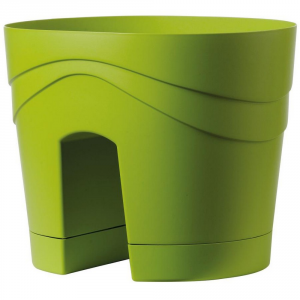 DEROMA Vaso Balcony Samba Verde Chiar Vasi Da Esterno Lite Material
