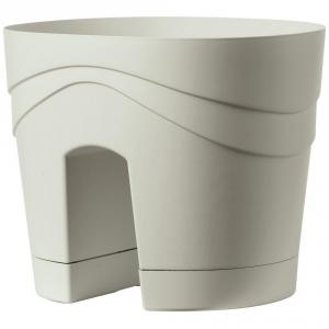 DEROMA Vaso Balcony Samba Perla Vasi Da Esterno Lite Material