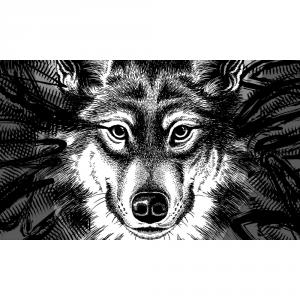 GIFT COMPANY Zerbino in cocco al lupo al lupo - Ogettistica arredo interno