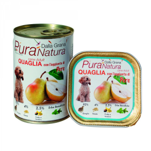 Pura Natura Quail Pears Grain Free Dog Wet