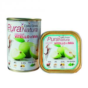 Pura Natura Apples Veal Grain Free Dog Wet