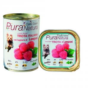 Pura Natura Trout Raspberries Grain Free Dog Wet