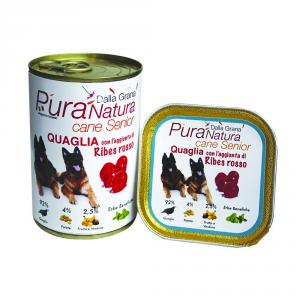 Pura Natura Quail Ribes Senior Grain Free Dog Wet