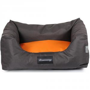 FABOTEX Petit Sofa Boston Marrone-Arancione 80X67X22 Per Cani E Gatti