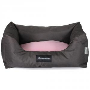 FABOTEX Petit Sofa Boston Marrone-Rosa 80X67X2X Per Cani E Gatti