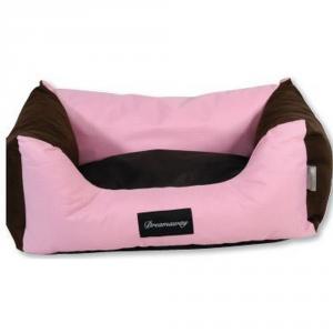FABOTEX Petit Sofa Boston Rosa-Marrone 65X50X22 Per Cani E Gatti