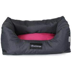 FABOTEX Petit Sofa Boston Antracite-Fuchsia 80X67X22 Per Cani E Gatti