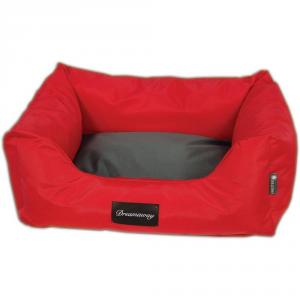 FABOTEX Petit Sofa Boston Urbain Rosso-Antracite 65X50X22 Per Cani E Gatti