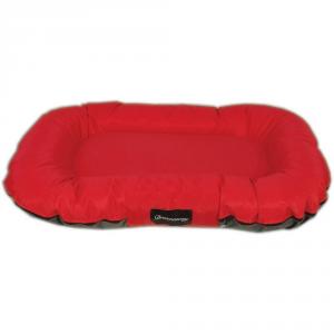 FABOTEX Materasso Boston Urbain Rosso-Antracite 80X60X14 Per Cani E Gatti