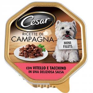 CESAR Cesar Vitello Tacchino GR. 150 Alimenti Umidi Per Cani