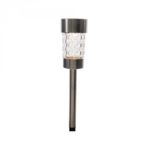 Lumineo Solar Lamp Led Finish Steel 26cm-1l Garden And Gardening