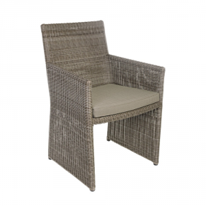 Bizzotto Abigail Marrone Chair With Arm In Synthetic Furniture From Outside