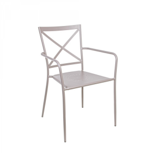 Bizzotto Ava Chair Furniture In Light Gray Iron From Outside