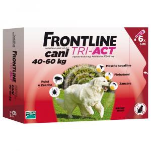 FRONTLINE Tri-Act Per Cani 40-60Kg 6 Pipette Pulci, Zecche, Pidocchi E Zanzare