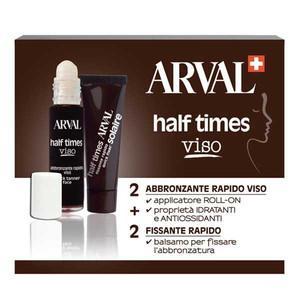 ARVAL Half Times Viso 2 Flaconi Abbronzante Rapido+ 2 Attivatori 10 Ml
