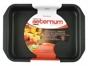 AETERNUM Rosticcera Antiaderente Corallo Cm30X22 Pentole E Preparazione Cucina