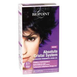 BIOPOINT Absolute Cristal System 2.1 Nero Blu Intenso Tinta Colore Per Capelli