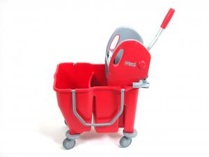 EUROMOP MOP Carrello per mop doppiavasca con strizza rosso pavimenti Pulizie casa