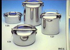 FRABOSK CASALINGHI Scatola porta vivande tondo inox cm14 Contenitori cibi cucina
