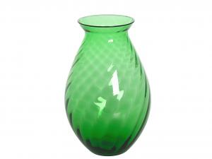 HOME Vase Hélice H 25 cm Vert Jardin Mobilier d'extérieur