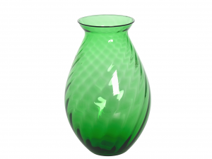 HOME Vase Propeller H 25 cm Grün Garten Gartenmöbel