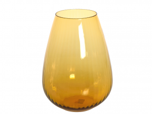 HOME Vase Olimpo Rigato H Cm 28 Amber Outdoor furniture