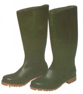 Boots Pvc Blacks Knee N 38 Accident prevention Protection
